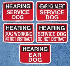 1 HEARING ALERT SERVICE DOG PATCH EAR 2.5X4 Danny & LuAnns Embroidery    service