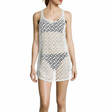 Arizona Crochet Racerback Tank-Dress Swim Cover-Up Size M, L, XL New Msrp $36.00