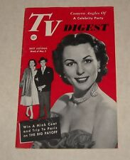1952 PHILLY LOCAL TV DIGEST GUIDE MAGAZINE KENTUCKY DERBY EDDIE FISHER