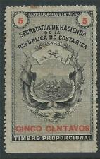 1870 Costa Rica revenue 5C. stamp VF