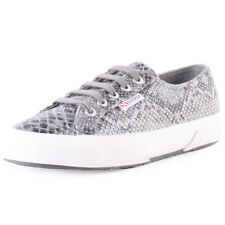 Superga 2750 Snake Womens Trainers Grey New Shoes