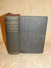 Antique Book Of A First Sketch Of English Literature, By Henry Morley - 1889