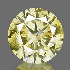 0.50ct 4.8mm Untreated Round Fancy Yellow Natural Loose Diamonds Free Shipping