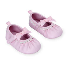 Koala Baby Girls Mary Jane Soft Sole Shoes with Contrast Scalloped Edging,