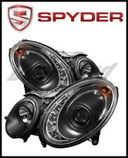 Spyder Mercedes Benz E-Class 07-09 Projector Headlights Halogen - DRL Blk