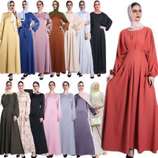 Women Vintage Dress Kaftan Muslim Girls Abaya Jilbab Islamic Loose Maxi Dress
