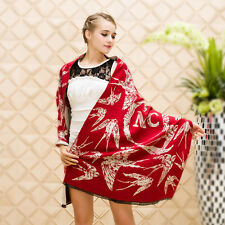 Women Winter Warm Swallow Large Genuine Cashmere Wool Scarf Shawl Pashmina Wraps