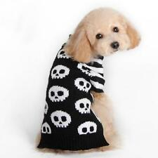 Pet Dog Skull Pattern Sweater Pullover Jumper Clothes Coat Apparel Size XXS-M