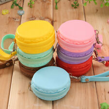 New Women Silicone Round Wallet Coin Purses Clutch Money Bags Candy Color 1Pc