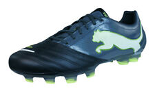 Puma PowerCat 1.12 FG Mens Leather Football Boots / Cleats - Black