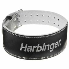 """Harbinger 4"""" Padded Leather Weight Lifting Belt - XL - Black/Silver"""
