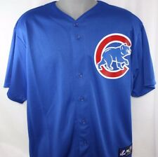 NEW Mens MAJESTIC Chicago CUBS Blue MLB Stitched Baseball Jersey