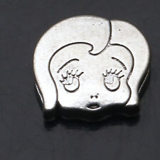 Wholesale 2/4/10/20 Pcs Shy Girl Tibetan Silver Crafts Charms Findings Spacers
