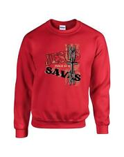 Christian Jesus Saves Psalm 34:18 Christ Crewneck Sweatshirt