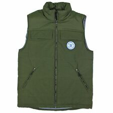 ADIDAS ORIGINALS MENS PRECISION VEST VEST TREFOIL JACKET OLIVE GREEN AUTUMN