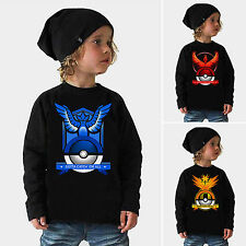 New Kids Fall Pokemon Pokeball Toddler Kids Casual T-Shirt Tee Warm Clothes Tops