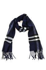 Burberry Scarf Scarves Foulard -10% Cashmere Man Blues 3994306-