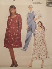 Amazing McCALLS 7512 Maternity Dresses & Jumpsuit PATTERN 10-12-14/12-14-16 UC