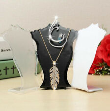 New Pendant Necklace Earrings Jewelry Bust Mini Display Holder Stand Showcase