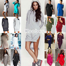 New Womens Ladies Long Sleeve Solid Party Cocktail Club Bodycon Midi Tunic Dress