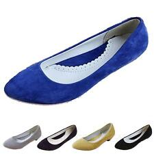 Synthetic Casual Ballet Flats Pretty Office Suede Flats AU sz 4 5 6 7 8 9 10