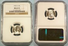 1952-S NGC MS67FT ROOSEVELT DIME 10c MS 67 FT FULL TORCH