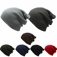 Fashion Men Women's Knit Baggy Beanie Oversize Winter Hat Ski Slouchy Chic Caps