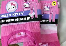Girls thermal Pink HELLO KITTY size 4 or 10, thermal  underwear or pajama set
