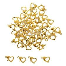 50PCS Curved Lobster Clasps Sliver Gold Plated Claw Clasps Jewellery Findings