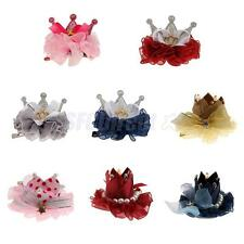 Phenovo Baby Girls Hair Clips Hairpin Bow Knot Crown Flower Boutique Accessories