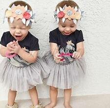 Cute Baby Girls Infant Kids Romper Tutu Dress Summer Party Swan Sundress Clothes