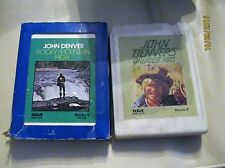 LOT OF 2 JOHN DENVER ROCKY MOUNTAIN HIGH GREATEST HITS  8 TRACK TAPES
