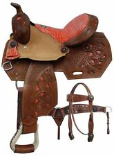 """Double T Youth Pony Barrel Style Saddle SET Cut Out Tooling 12"""" 13"""" NEW"""