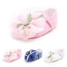 Baby Girls Toddler Princess Flower Soft Sole Prewalker Shoes Kid Mary Janes SVKU