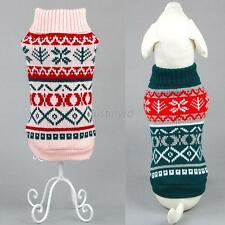 New Pet Dog Cat Snowflower Warm Sweater Clothes Puppy Cat Coat Costumes Knitwear