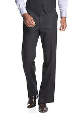 SEAN JOHN Flat Front Dress Pants Black Tonal Striped Trouser Suit-Separates $120