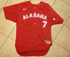 Nike Alabama Crimson Tide Baseball #7 mens sz 50 GAME WORN Stitched jersey RED