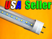 """Lot of 5 - 110V AC T8 48"""" 18W Pure White LED Fluorescent Replacement Tube Light"""
