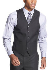 SEAN JOHN Black Tonal Stripe Vest Classic Fit - Suit Separates $75