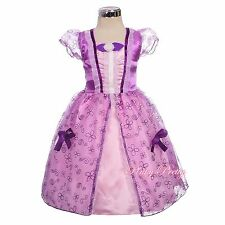 Purple Fairy Tales Princess Sofia Costumes Cosplay Fancy Party Dress 2y-7y FC054