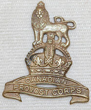 WWII The CANADIAN PROVOST CORPS Collar Badge S.22.