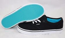 NEW Girls Kids Youth VANS Atwood Low Black White Blue Classic Sneakers Shoes