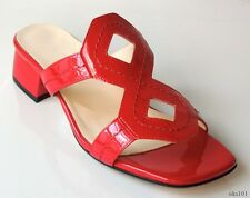 new TARYN ROSE 'Odessa' red patent leather flats mules shoes 6 very comfortable