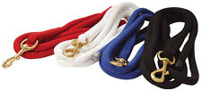 """Cotton Lead Rope, 3/4"""" x 10'L with Brass Bolt Snap - 4 Colors to choose from NEW"""