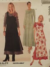 OOP McCALLS 8962 MS/Wmns Dress & Overdress PATTERN 8-10-12-14-16-18-20-22 UC