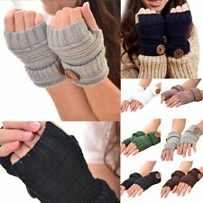 Lovely Women Winter Wrist Arm Hand Warmer Knitted Long Fingerless Gloves Mittens
