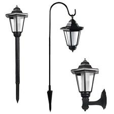 Outdoor Solar Power LED Light Garden Yard Pathway Fence Wall Mounted/ Stake Lamp