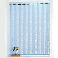 Rose Vertical Lace Pleated Blind Panel – Rod Pocket Top Heading - 72 inch Width