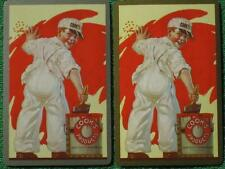 Cook's Paint Products Advertising Art Swap Cards Matched Pair Vintage 1948 MINT