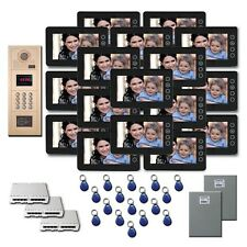 Video Entry Intercom System 17 7 inch door panel color monitor kit